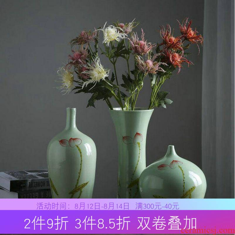 Jingdezhen ceramic vase furnishing articles of I and contracted household act the role ofing is tasted Chinese style living room TV cabinet wine porch Europe type