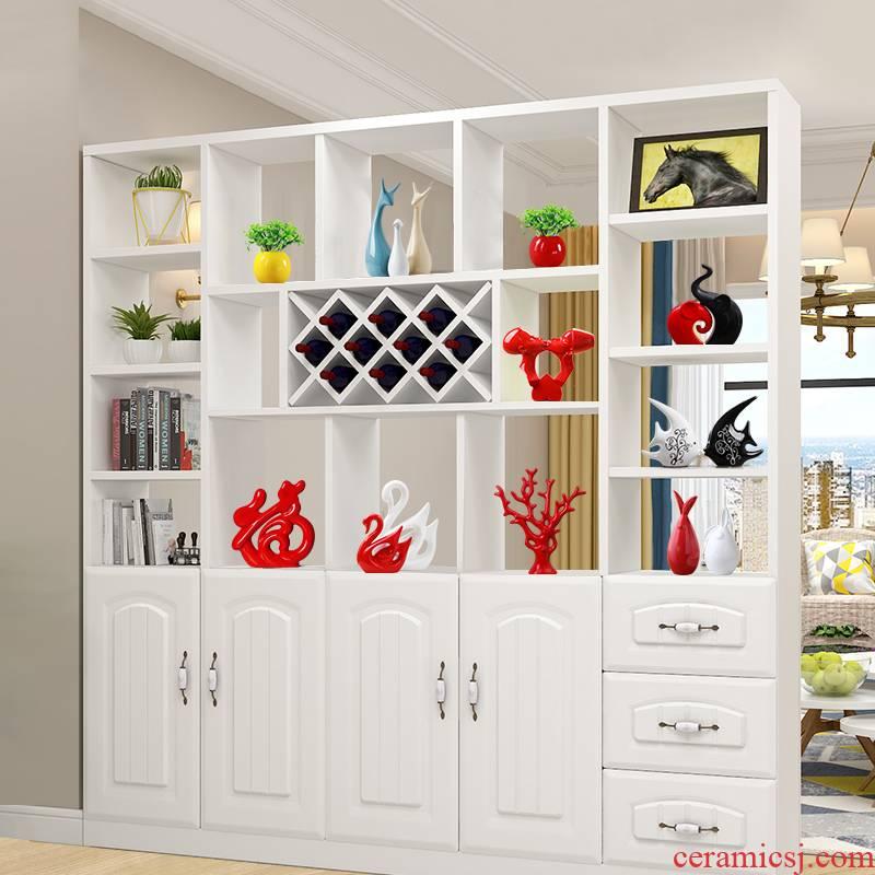 New ceramics handicraft furnishing articles marca dragon the abstract deer home wine desktop decoration decoration Nordic ins