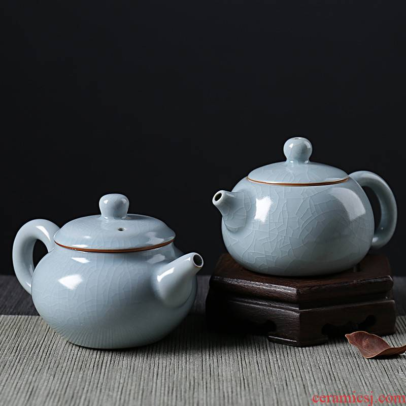 QY your up ceramic teapot small xi shi pot of your porcelain single teapot large domestic scene kung fu tea set