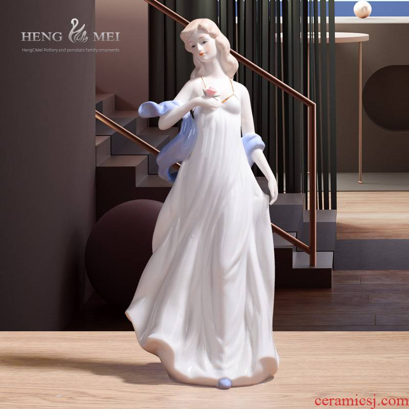 Western women 024 European/furnishings jingdezhen/handicraft/home decoration ceramic its furnishing articles