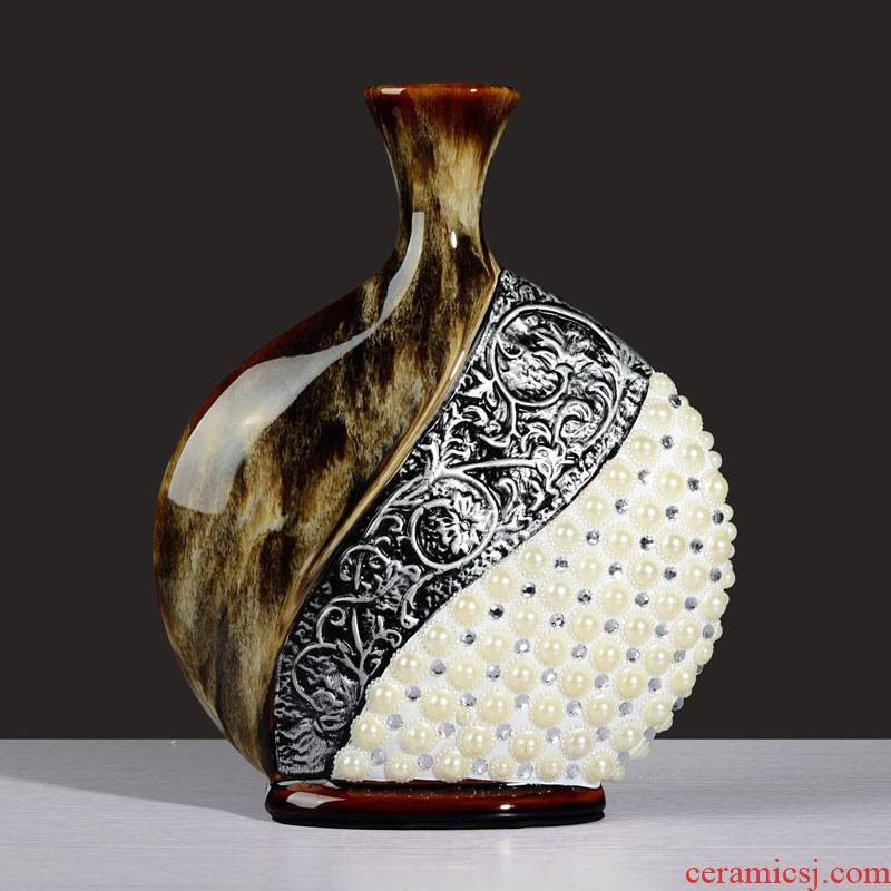Large European ceramics vase contracted and I creative furnishing articles sitting room adornment flowers, dried flowers, flower vase