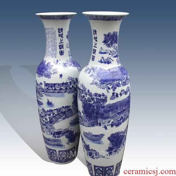 Be born ceramic vase painting porcelain landing clear big vase hotel opening large vase
