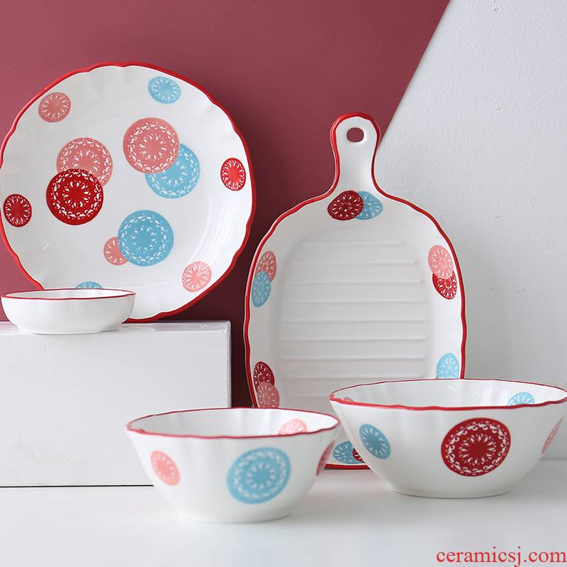 Home dishes northern wind ins move so ceramic tableware web celebrity suit light key-2 luxury ins wind dishes