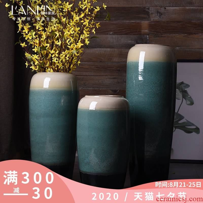 Jingdezhen ceramic European vase landing large I and contracted sitting room porch simulation flower vases, flower arranging furnishing articles