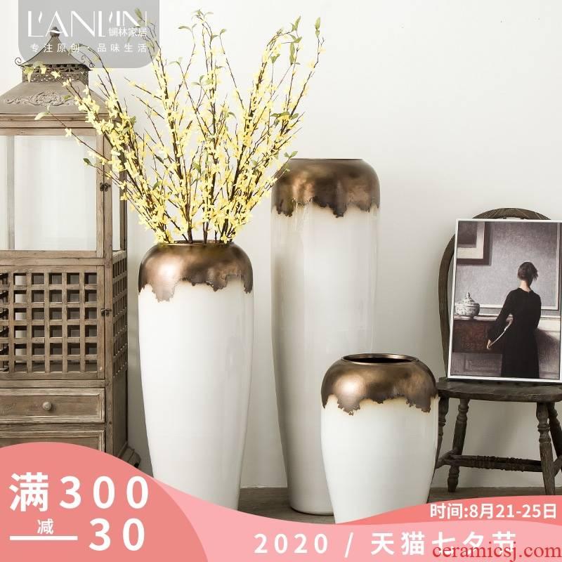 Jingdezhen ceramic large vases, flower arranging ground dry flower flower arranging hotel furnishing articles, the sitting room porch decoration decoration