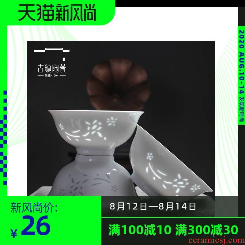 Jingdezhen dishes suit household contracted Europe type white porcelain tableware kit to use spoon combination plate set bowl dishes