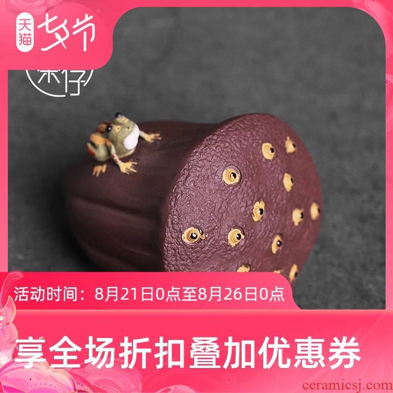 Tea seed water violet arenaceous Tea sets Tea pet frog Tea small place creative move ceramic mini ornaments
