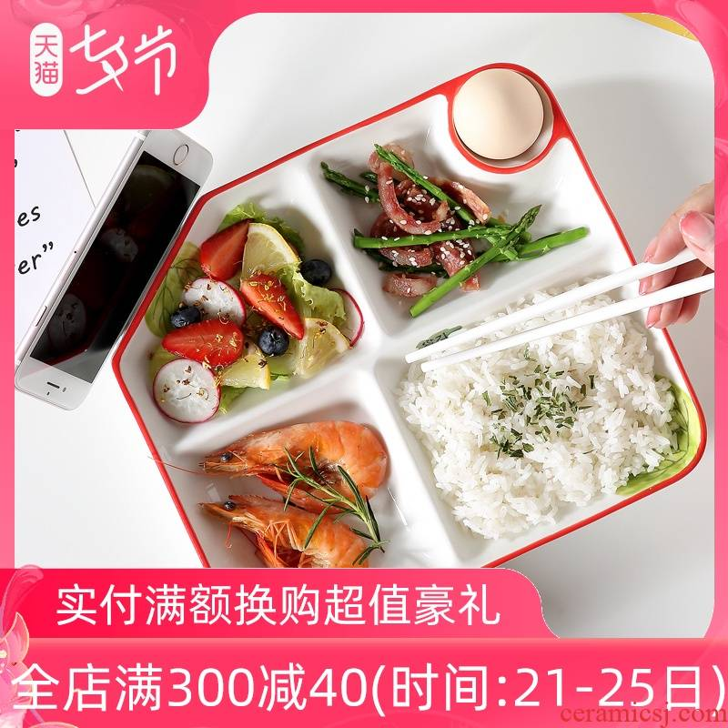 Japanese ceramic dish dishes household use individual lose fat fast food dish one feed the children 's breakfast table