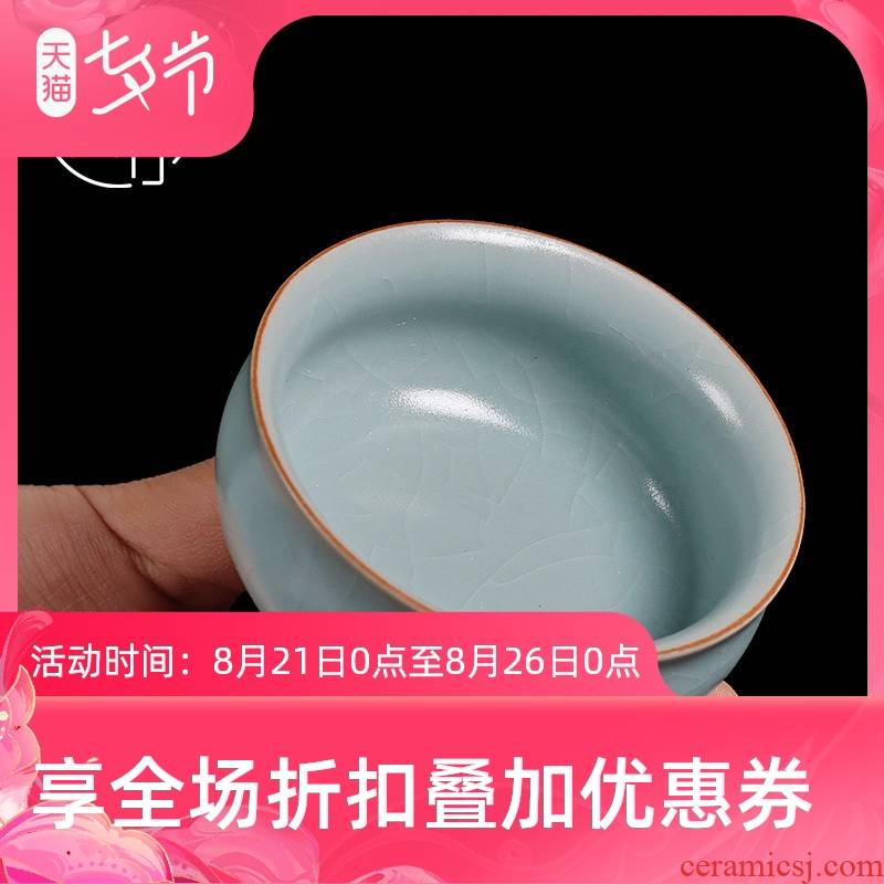 Tea seed of ru up market metrix who cup ice crack glaze porcelain Tea cups slicing can raise individual single cup Tea cup