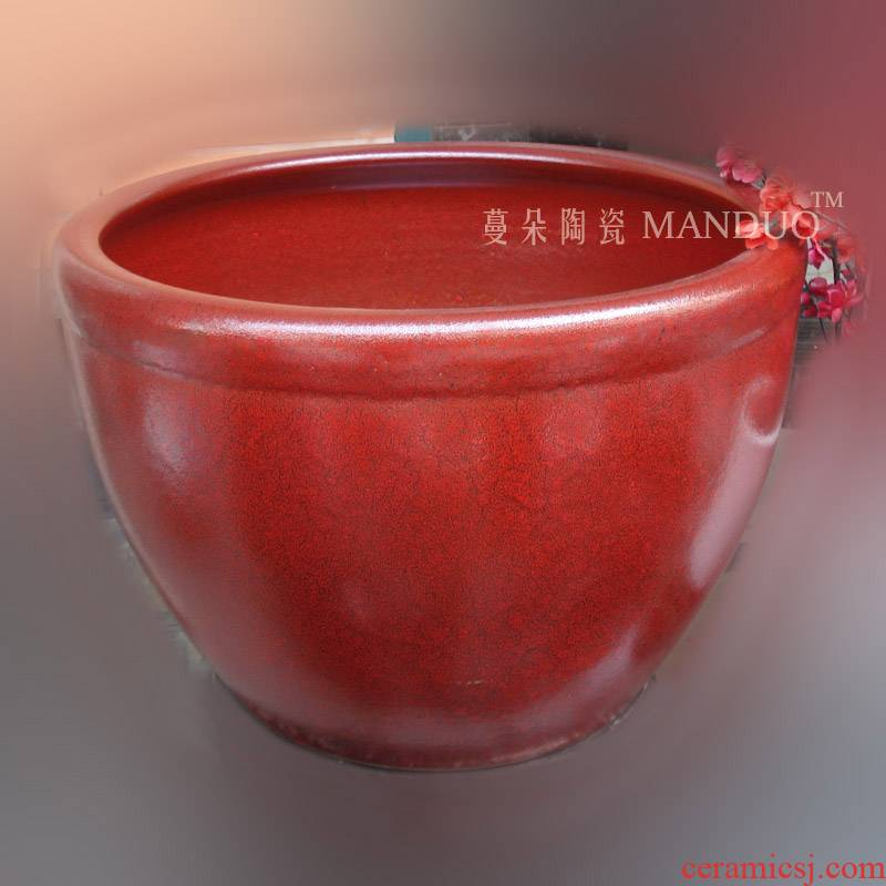 Jingdezhen up red porcelain porcelain crock avant - garde fashion club fish lotus porcelain cylinder
