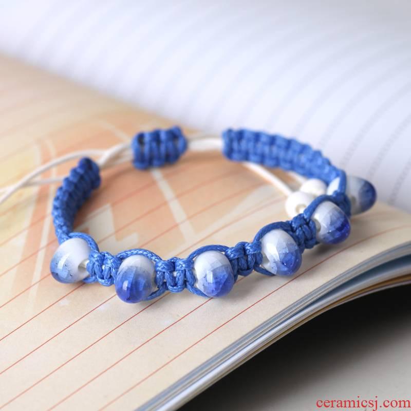 QingGe the original ceramic jewelry accessories jingdezhen hand joker classic bracelet - three color stalls sources