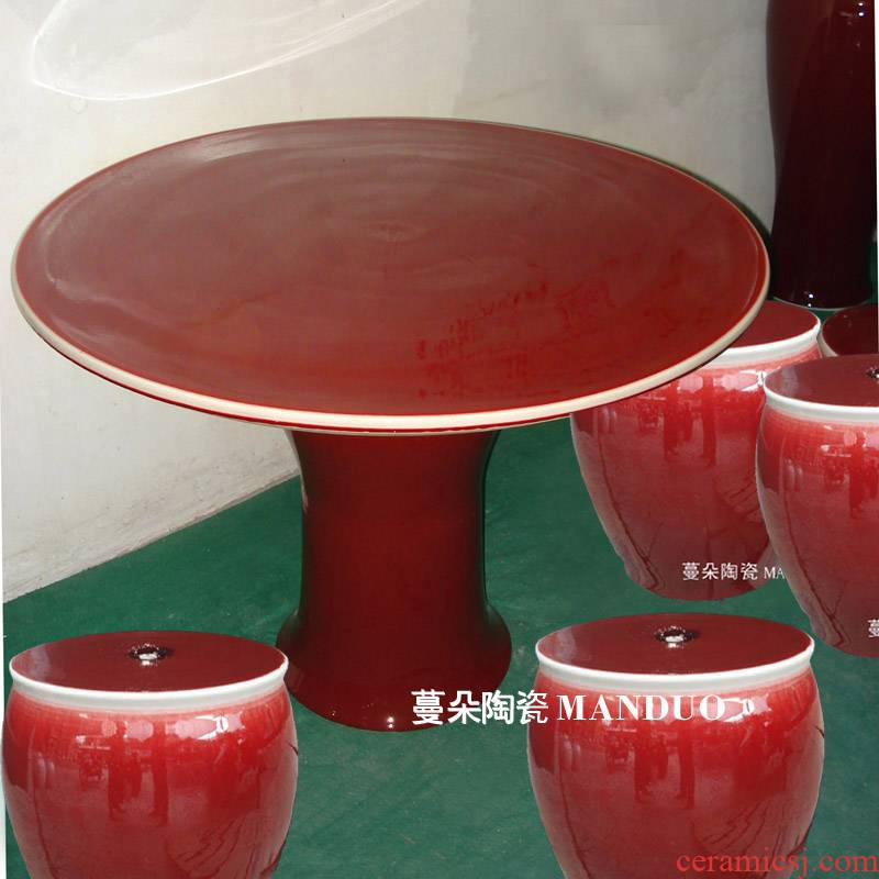 Jingdezhen ruby red porcelain table style red red suit ruby red porcelain porcelain table table