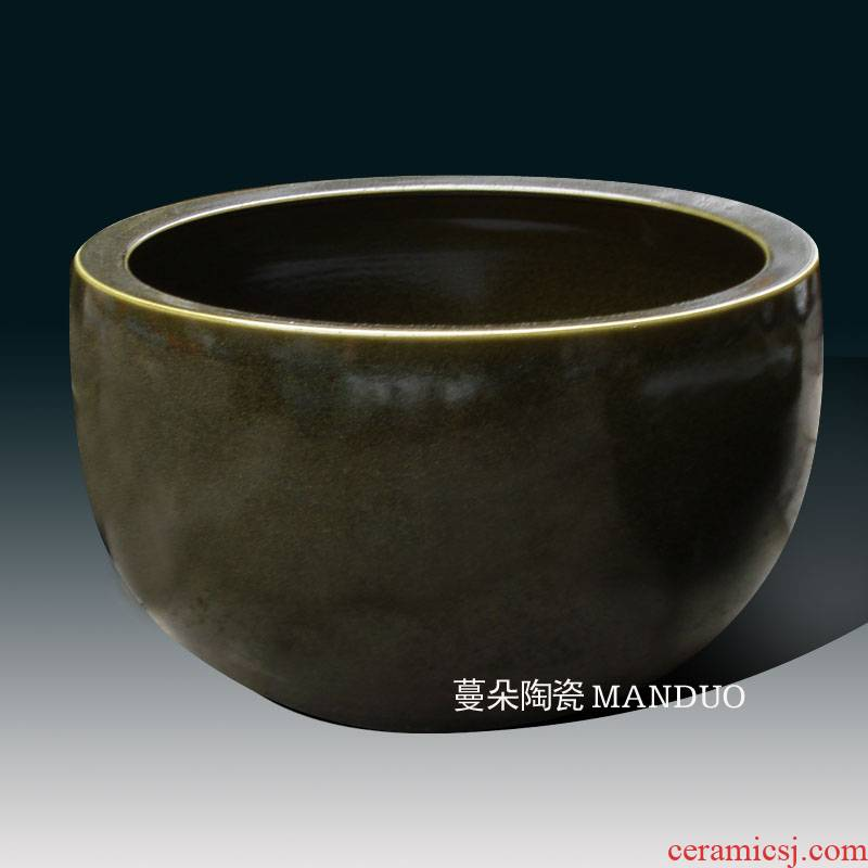 At the end of the jingdezhen porcelain the flood light At the end of the tea tea China At the end of the classical big bowl tea China 50 cm large bowl
