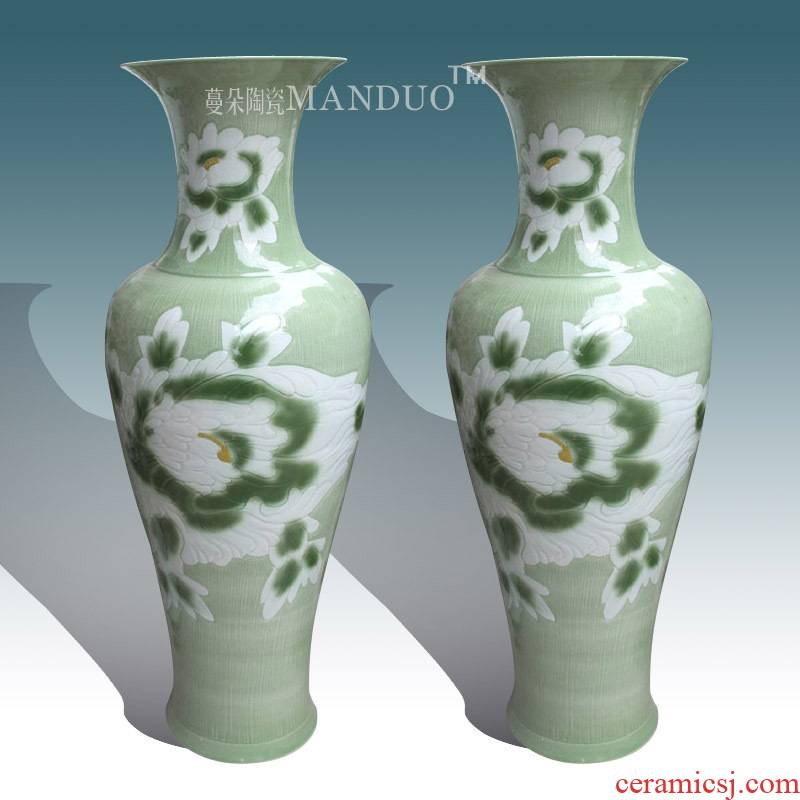 The Clear and elegant elegant vase of large sitting room of large vase peony ceramic porcelain art