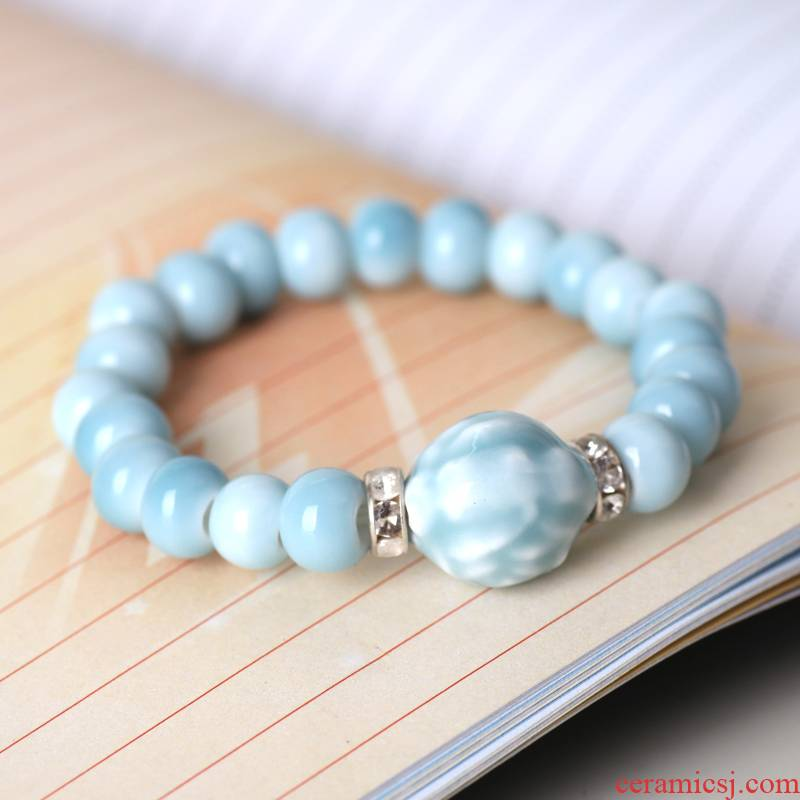 QingGe jingdezhen ceramic jewelry creative ceramic bracelet/national wind couples jewelry market, I supply of goods