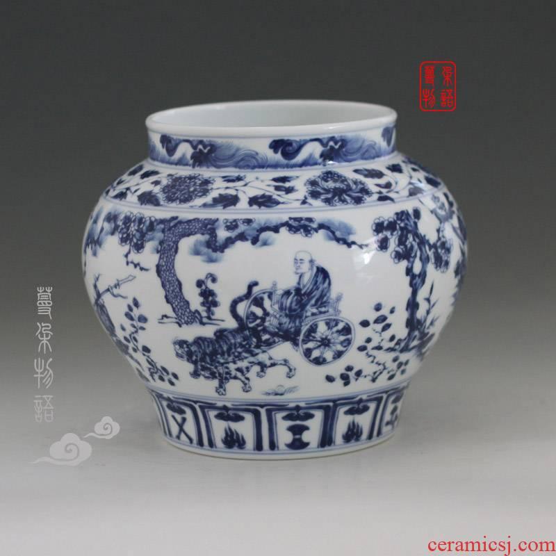 Jingdezhen guiguzi down the vase furnishing articles furnishing imitation antique vase classic guiguzi down the jar