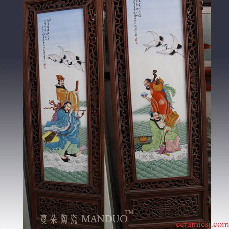 Hand - made ceramic porcelain plate character art big screen is 1.9 meters high ensemble character of the big screen
