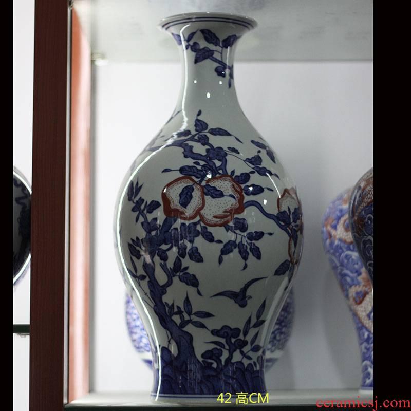 Jingdezhen hand made xiantao olive bottles of olive bottle furnishing articles furnishing articles, vases, antique porcelain porcelain art