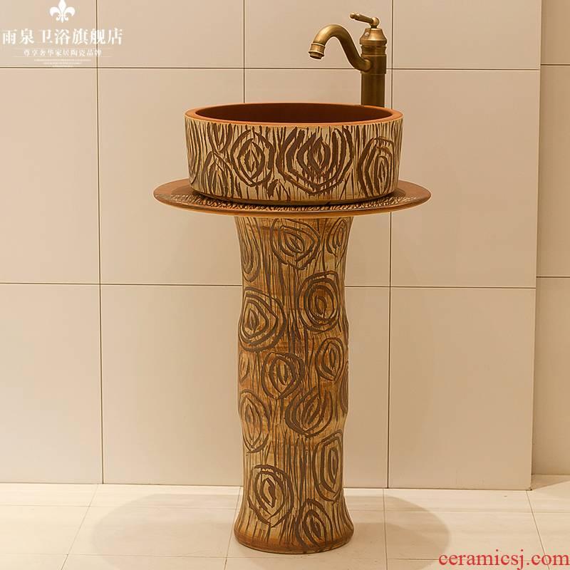 The rain spring basin of jingdezhen ceramic column balcony sink pillar basin art toilet lavatory 3 of The basin that wash a face