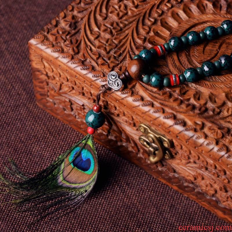 QingGe jingdezhen manual the original string ceramic beads hand lay in folk porcelain bead jewelry supplies