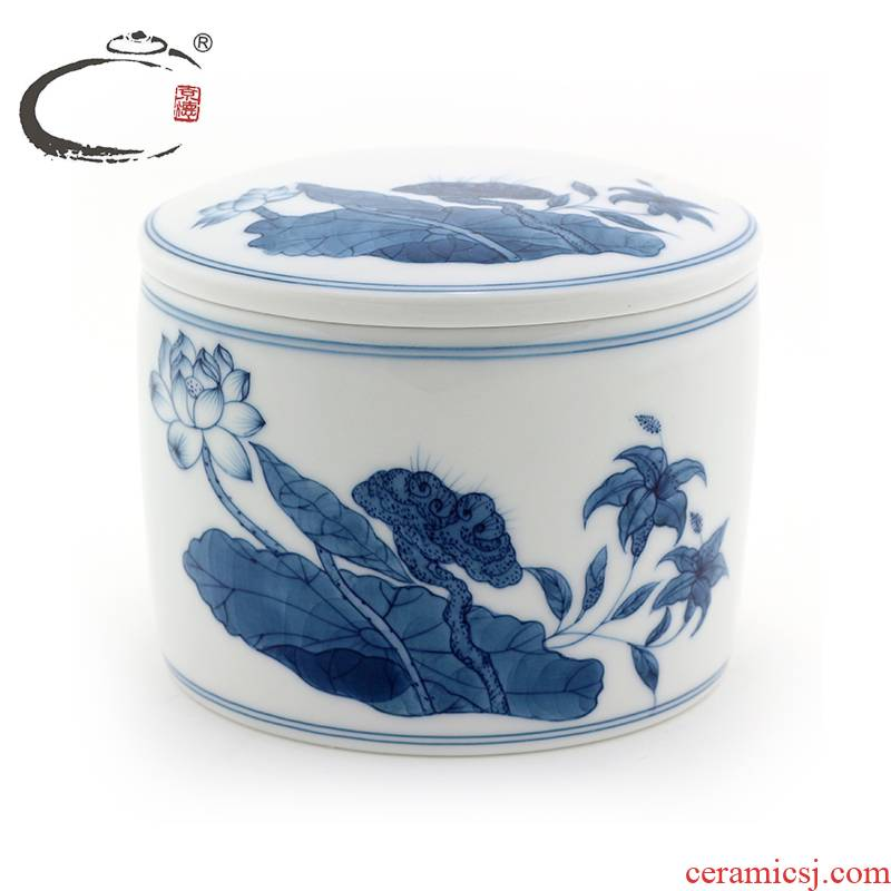 Jingdezhen blue and white lotus or jug and auspicious pure hand - made tea POTS hand - made kung fu tea set ceramic POTS