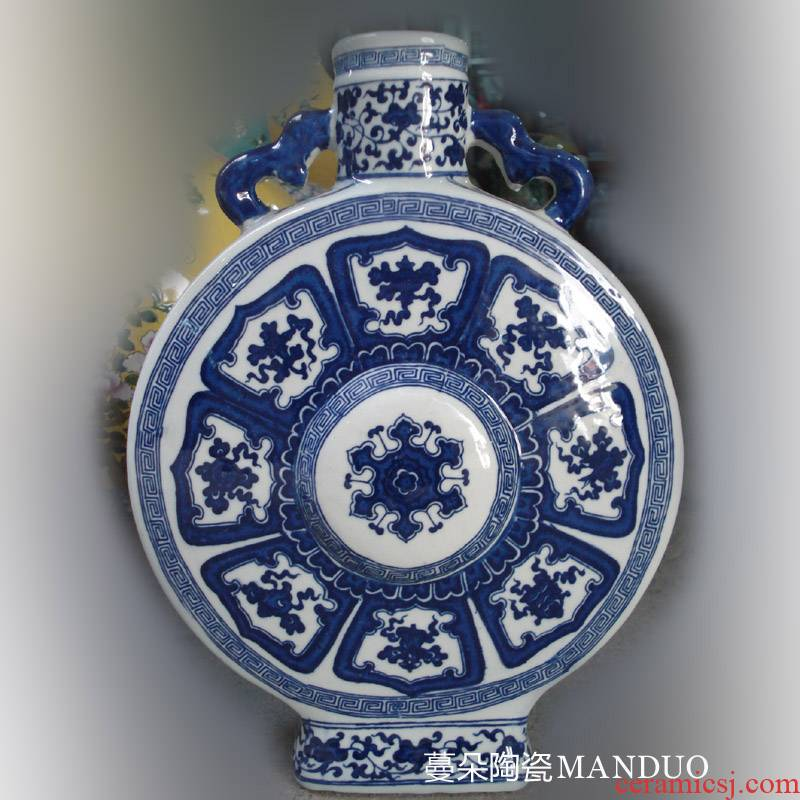 Jingdezhen imitation qianlong sweet grain porcelain vases and flat the China unicorn on flat 30 high about porcelain vase