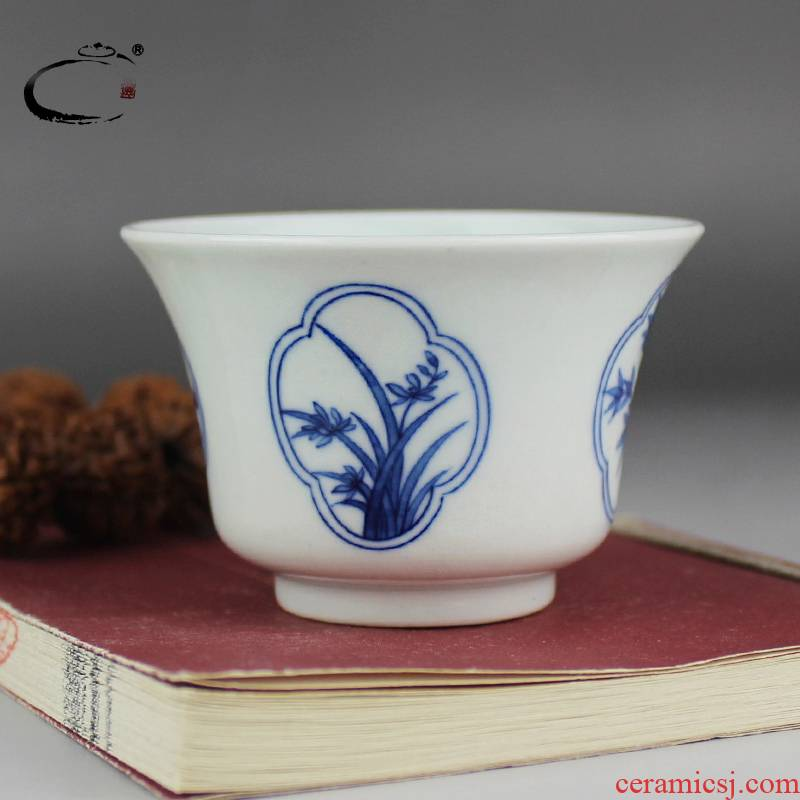 Blue and white sample tea cup and auspicious jing DE collection master cup of jingdezhen ceramic teacups hand - made by patterns single CPU
