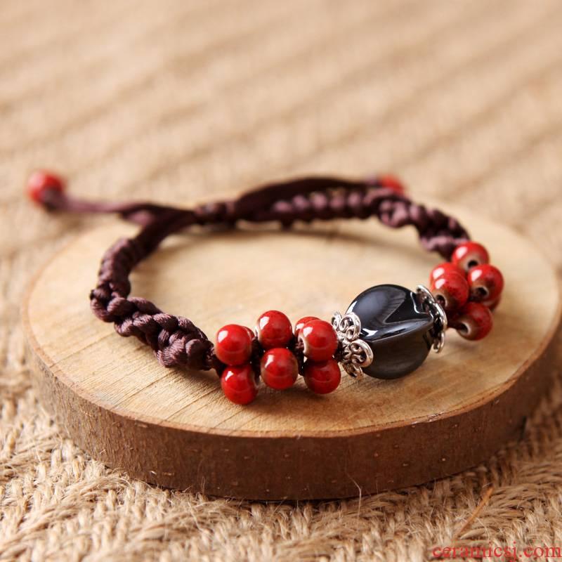 QingGe bracelet female national wind the original manual creative ceramic jewelry accessories best Mr Booth in supply