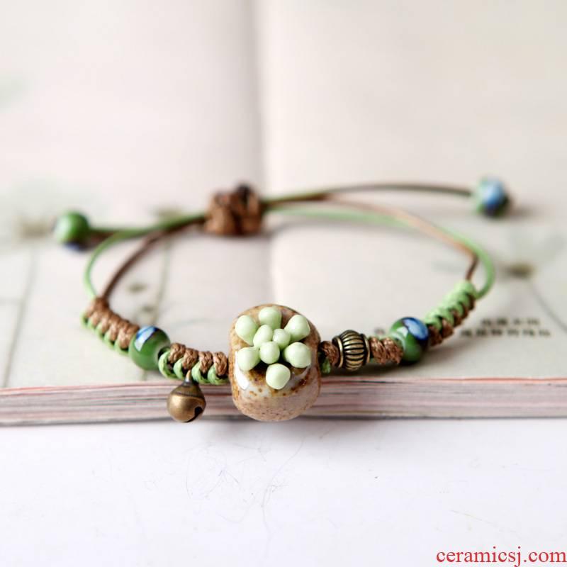 QingGe national wind restoring ancient ways lay in fashionable sen female bracelet bracelet ceramic bracelet with ms source