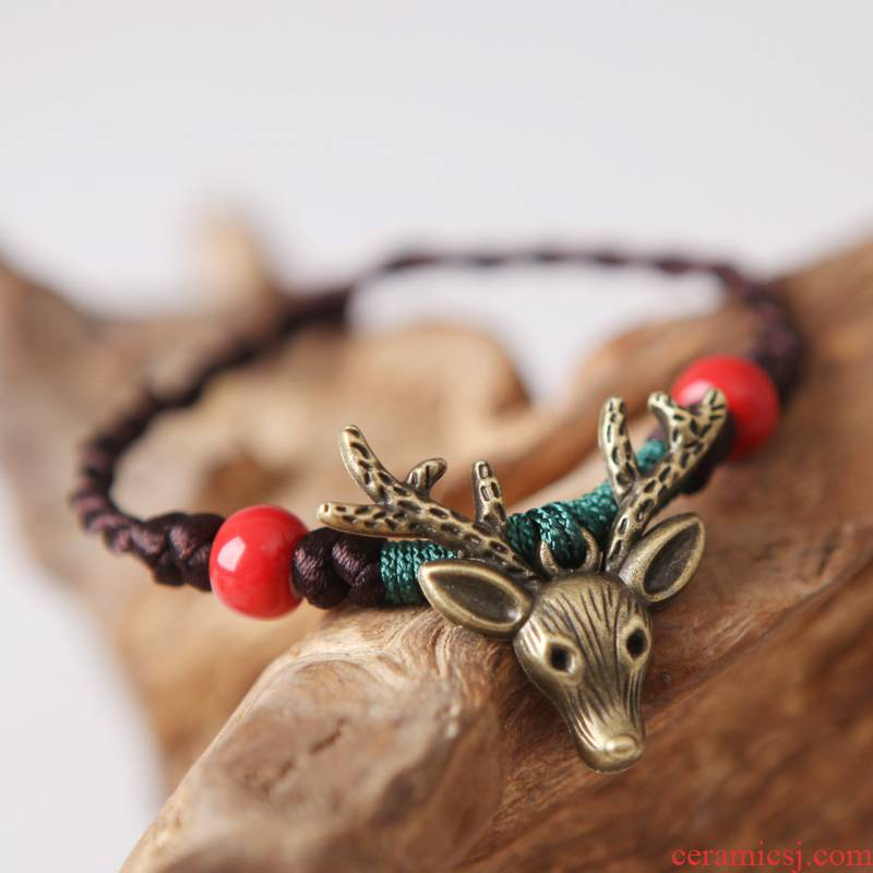 QingGe ceramic bracelet national wind restoring ancient ways bracelet lay in female express cartoon fawn girl accessories supply