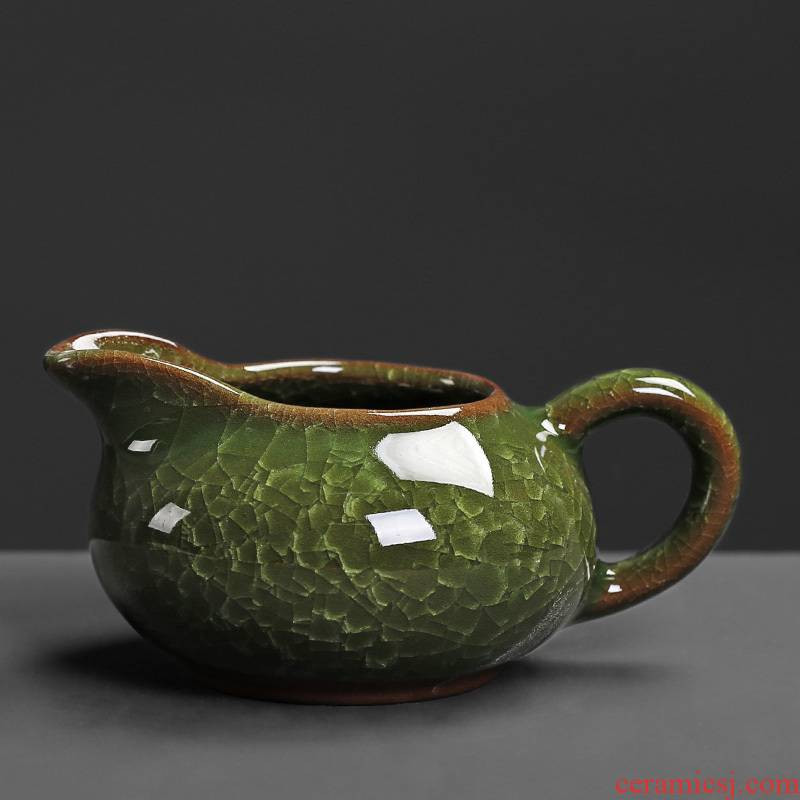 Ceramic fair keller household in ice to crack the green tea device small single kung fu tea tea sea office accessories