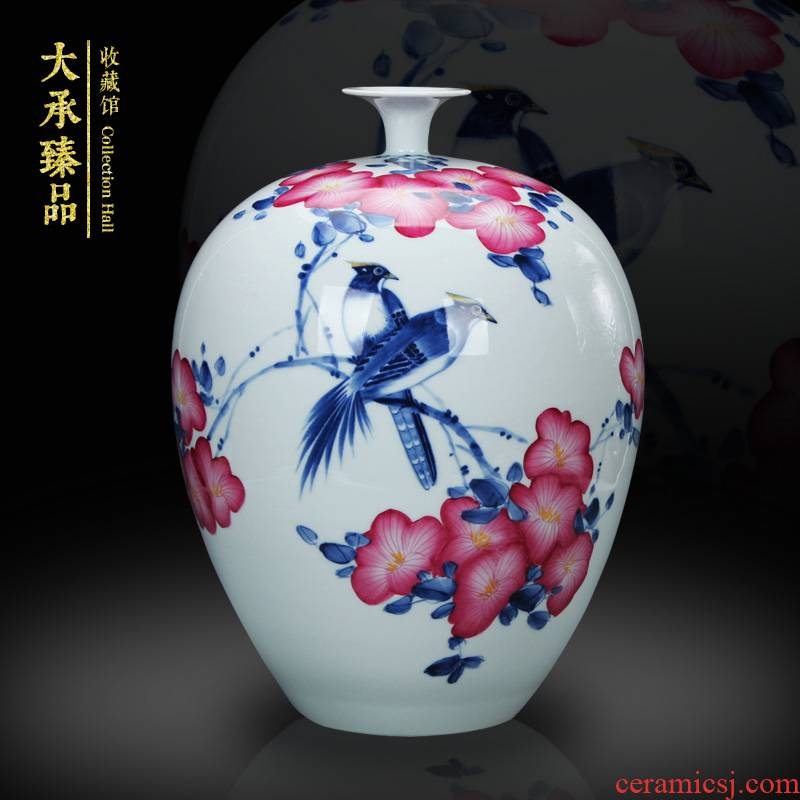 Jingdezhen blue and white youligong hand - made ceramics painting of flowers and Chinese style household handicraft furnishing articles furnishing articles vase