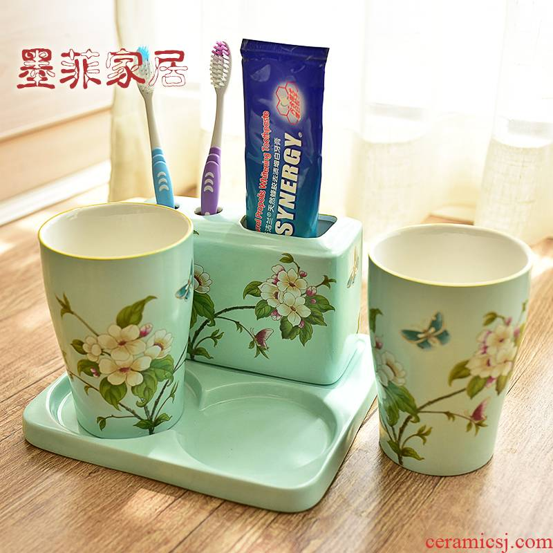 American toilet bathroom ceramic sanitary ware 4 couples toiletries decorative furnishing articles version into gifts