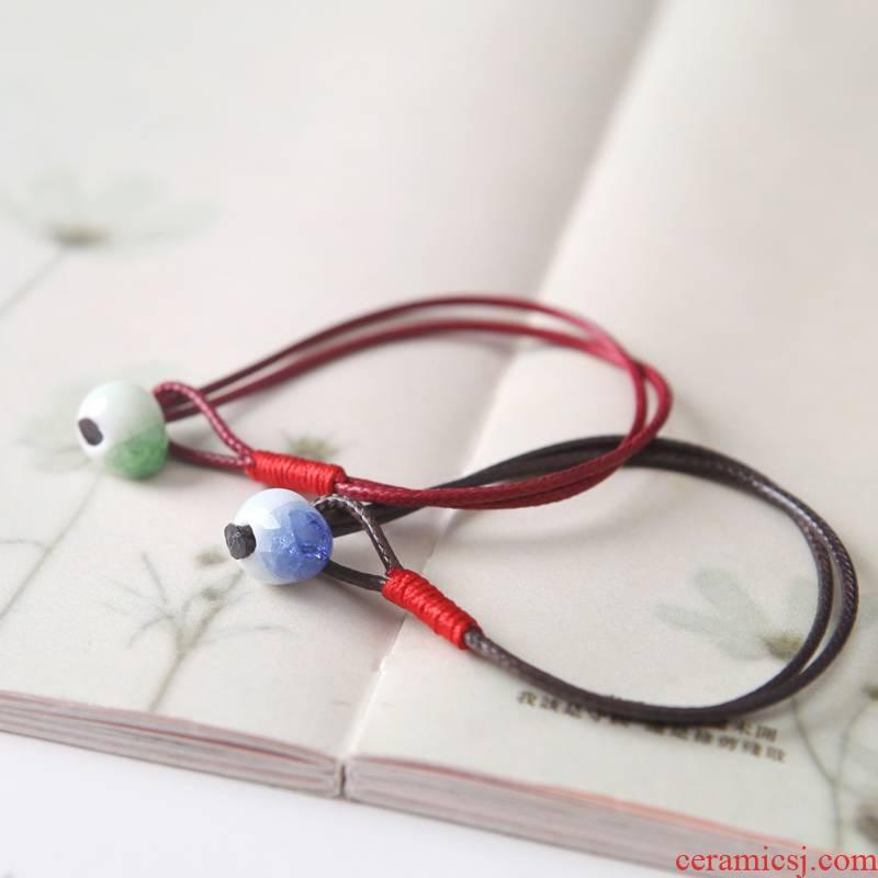 QingGe has characteristic crack jingdezhen porcelain beads hand made the original sen market. I supply ceramic bracelet