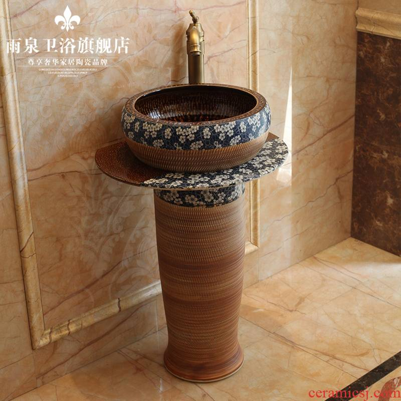 Jingdezhen ceramic basin toilet lavabo column pillar one lavatory basin sink art home