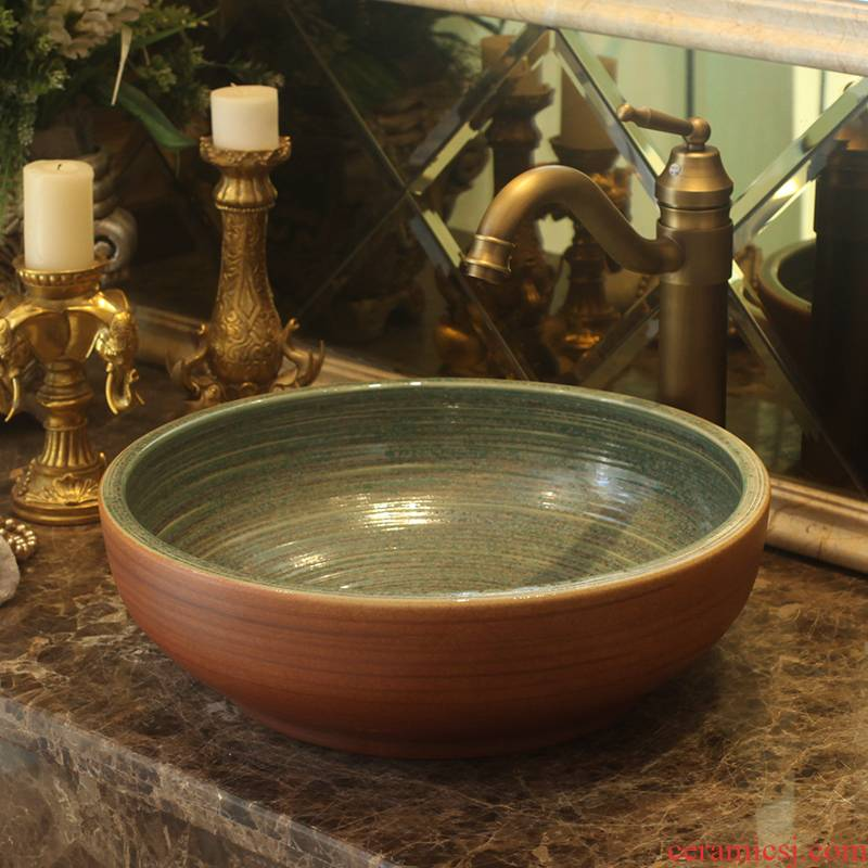 Checking jingdezhen ceramic stage basin bathroom basin sink the lavatory basin art antique small basin