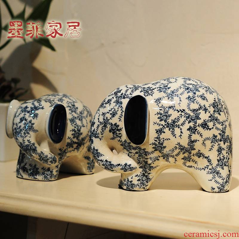 Wedding gift object furnishing articles sitting room practical anniversary of blue and white porcelain home decoration new send new girlfriends