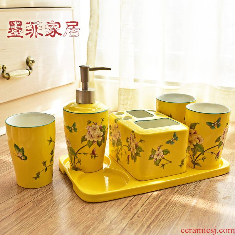 American ceramic sanitary ware has six sets of new Chinese style bathroom toiletries furnishing articles girlfriends version into gifts