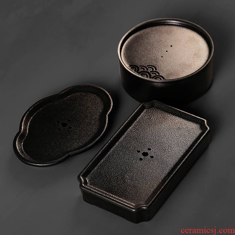 Ceramic mini storage dry plate of small tea tea tray was coarse pottery tea pot adopt tea sea contracted Japanese style restoring ancient ways is small