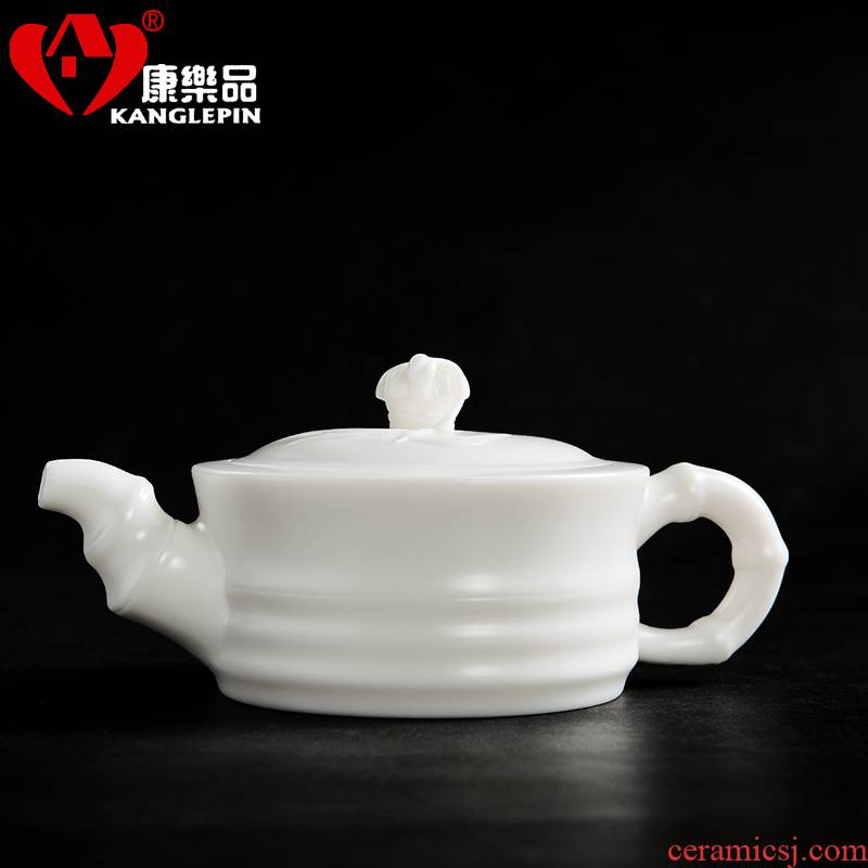 Recreational product fat white had a pot of dehua white porcelain glaze teapot not Japanese kunfu tea, ceramic tea set
