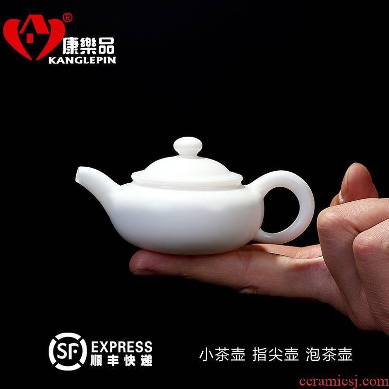 Recreational product white porcelain ceramic teapot suit pocket little teapot single pot pot of mini household utensils xi shi pot of fingertips