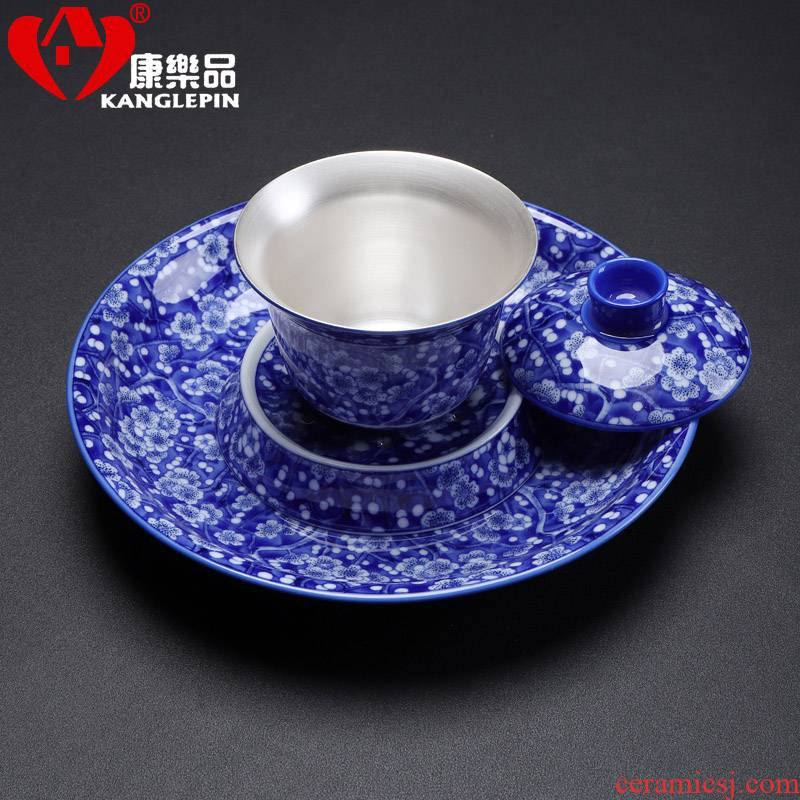 Recreational product kung fu tea set manually coppering. As silver tureen silver 999 cups of blue and white porcelain masters cup tea bowl of custom