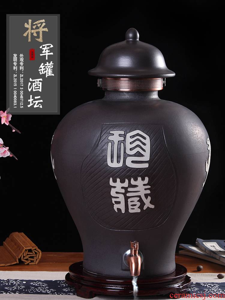 Jingdezhen ceramic jars it general wine pot mercifully wine bottle with leading 10 jins 20 jins home mercifully wine jars