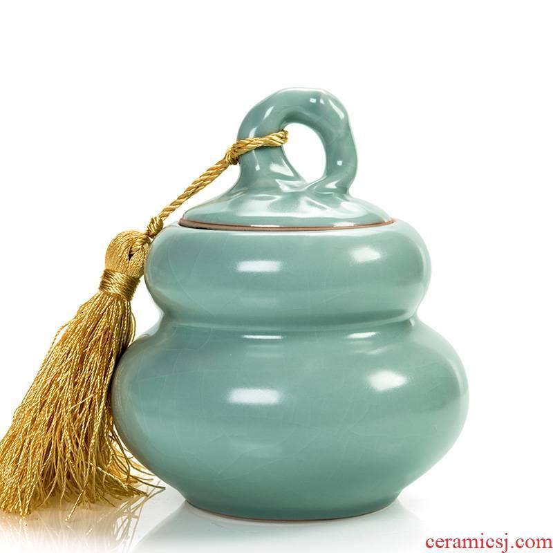 Shadow enjoy your porcelain tea pot, ceramic seal tank storage jar puer tea pot your up gourd DCXH
