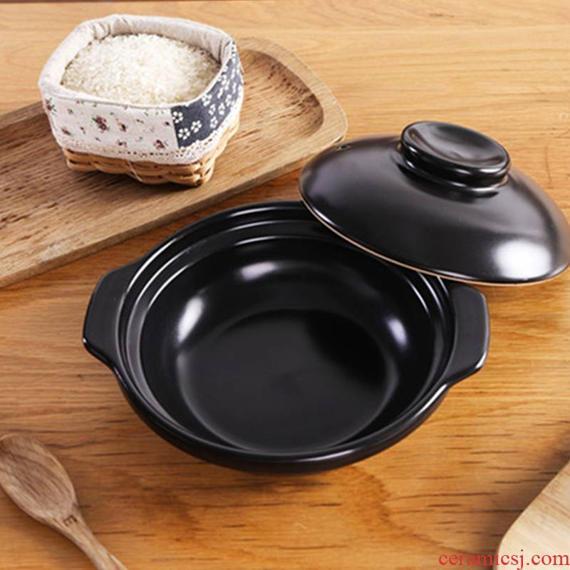 Soup rice casseroles, special high temperature resistant ceramic shallow pan conger gas small household bibimbap sand boil the chicken rice
