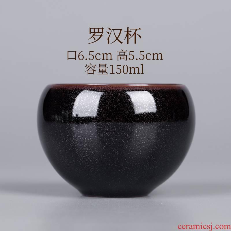 Jizhou up sample tea cup single cup red glaze, jingdezhen household kung fu tea set ceramic bowl cups masters cup