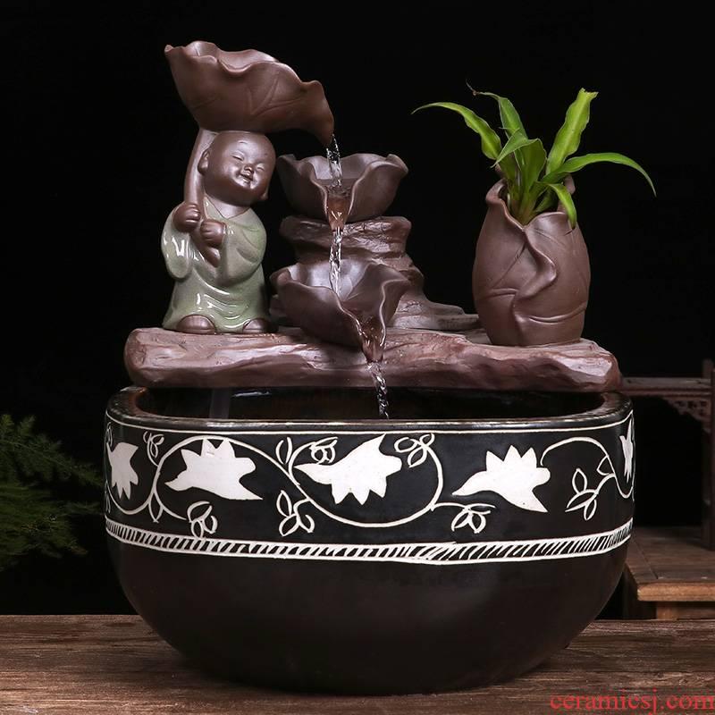Jingdezhen ceramic aquarium household goldfish bowl sitting room balcony office furnishing articles courtyard water vats fish bowl