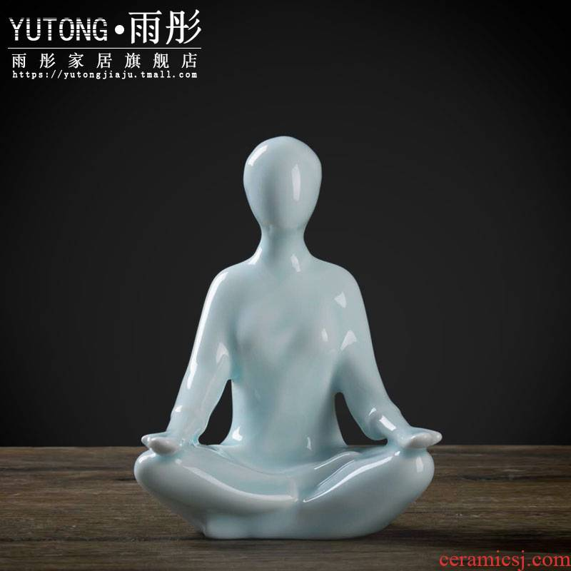 Zen yoga character ceramic creative new Chinese style household act the role ofing is tasted porch decorate furnishing articles crafts gift decoration