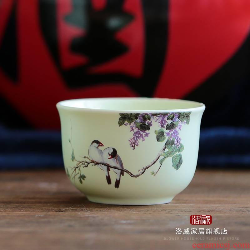 Jingdezhen ceramic 2 two temperature hip flask glass sample tea cup kung fu tea cup hot hip flask glass wine cup