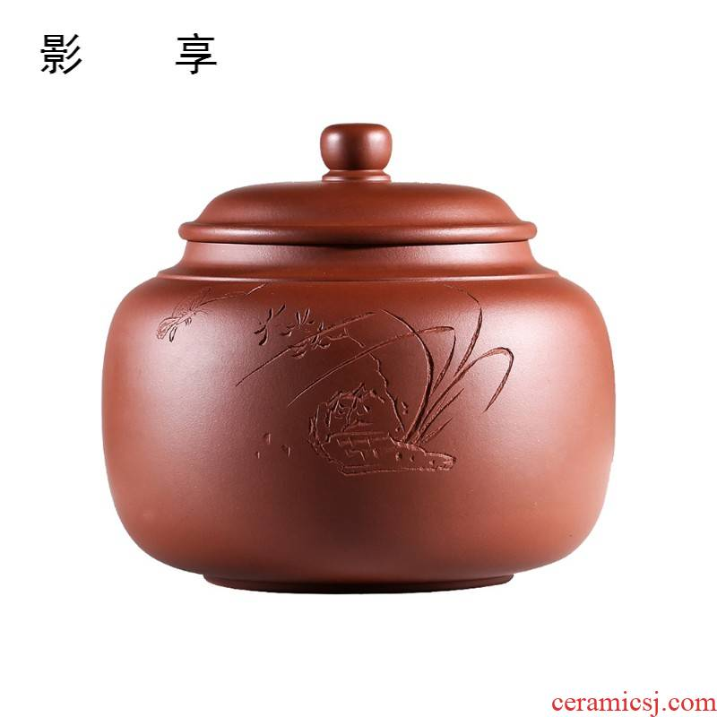 Shadow at yixing purple sand tea pot large famous pure manual collection level pu - erh tea storage sealed up POTS JH